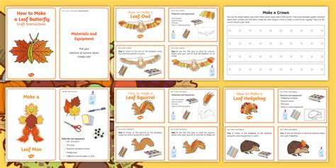 * New * Cfe Early Level Autumn Art And Crafts Resource Pack