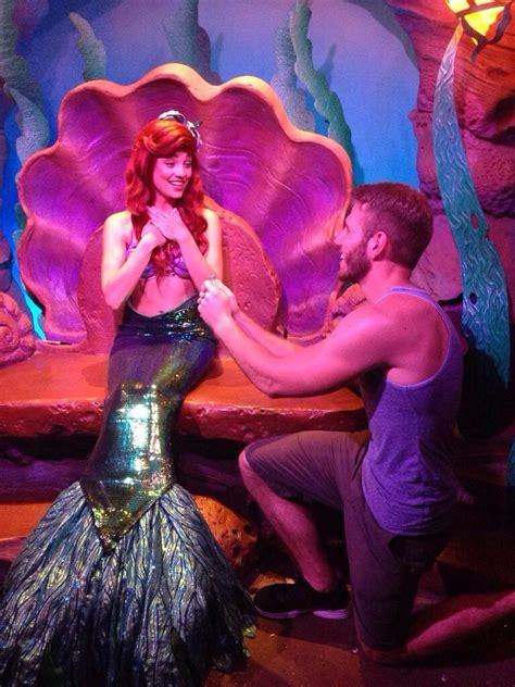 guy proposes   princess  disney world