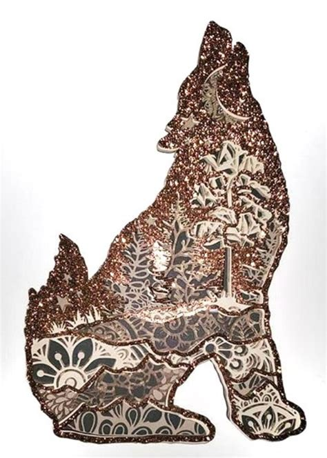 Report an abuse for product moon wolf barking mandala earring svg design. 3D Mandala Layered Design | Wolf Mandala SVG (545746 ...