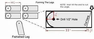 Cornhole Board Legs