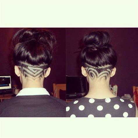 nape undercut designs  women hairstylo