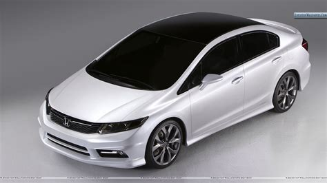 best honda a white color honda civic top pose wallpaper