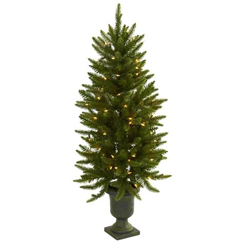 4 foot artificial christmas tree in urn clear lights 5369