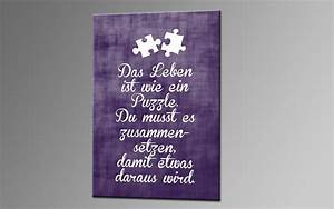 Leinwandbild Mit Spruch : puzzle iii lila leinwand 60x40cm spr che deko ka00320 ~ Sanjose-hotels-ca.com Haus und Dekorationen