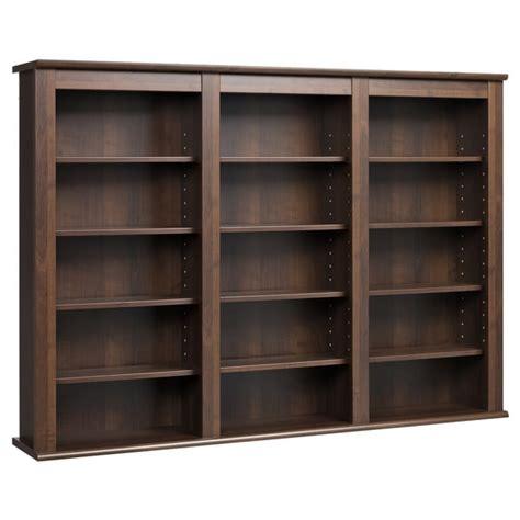 cabinet hanging shelf espresso wall hanging media storage cabinet bookshelf