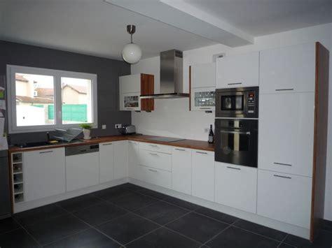 cuisine sol blanc cuisine avec sol noir