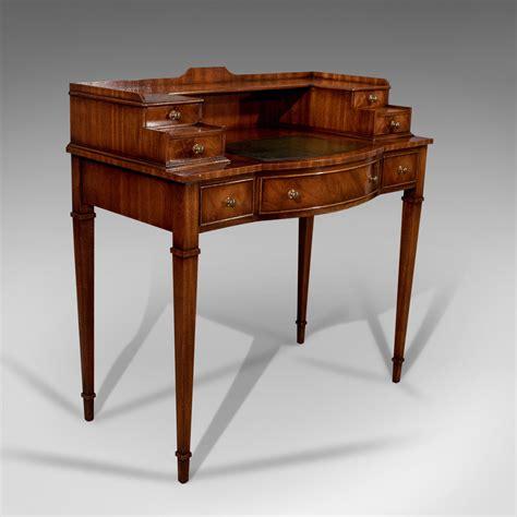 bureau writing desk writing desk antique sheraton taste mahogany leather