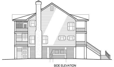 porches cottage piling foundation side entrance garage