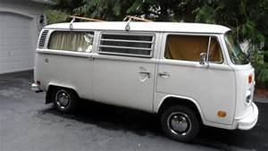 1975 Volkswagen Vw Westfalia Campmobile Bus W  Rare Blue