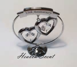 25 wedding anniversary gift ideas 25th silver wedding anniversary gift ideas with swarovski crystals sp248 ebay