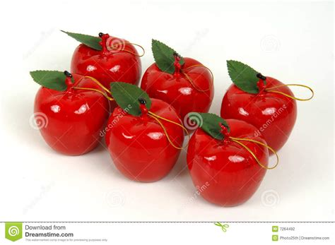 apple ornaments stock photography image 7264492