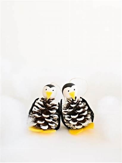 Pine Cone Christmas Pinecone Diy Ornament Penguin