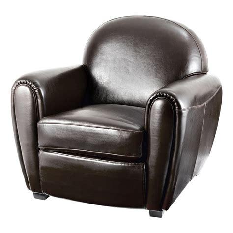 fauteuil club vintage cro 251 te de cuir marron soldes d hiver