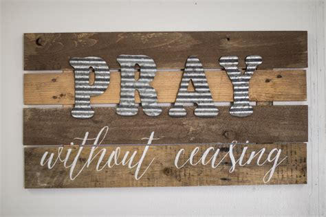 diy wood sign  galvanized metal letters  clever