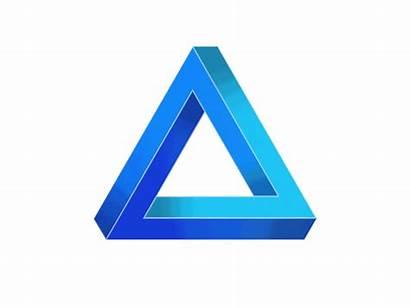 Triangle Penrose Dribbble Animation Illusion