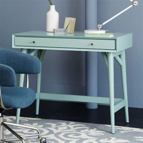 west elm desk mid century mini desk oregano west elm