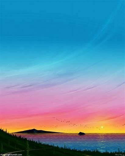 Sunset Winding Road Artstation
