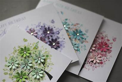 Handmade Birthday Spring Card Personalised Square Cards