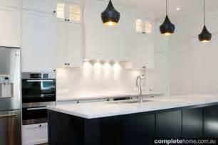Home Decor Magazines Australia by Contemporary Black And White Kitchen Design Completehome