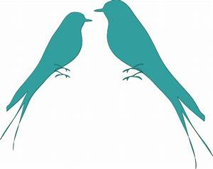 Wedding Love Birds Clipart Black And White - Cliparts.co