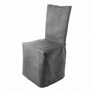 Housse De Chaise But : housse de chaise pli creux montana gris madura ~ Dailycaller-alerts.com Idées de Décoration