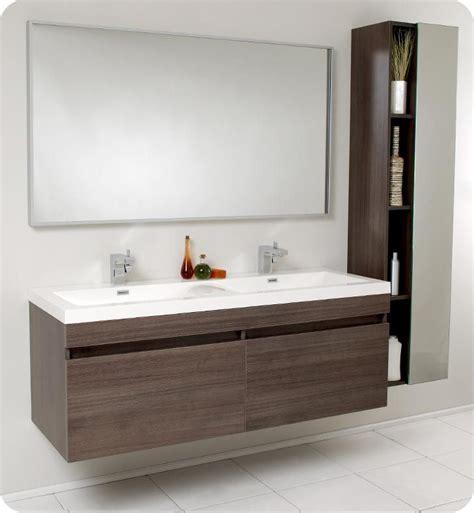 Modern Bathroom Vanities And Cabinets by 57 Fresca Largo Fvn8040go Gray Oak Modern Bathroom