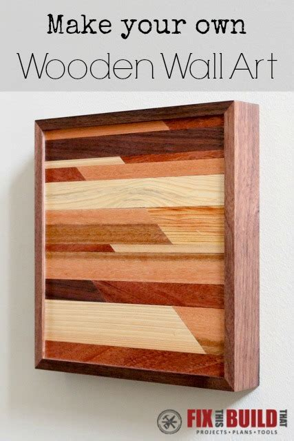 ana white modern wooden wall art diy projects