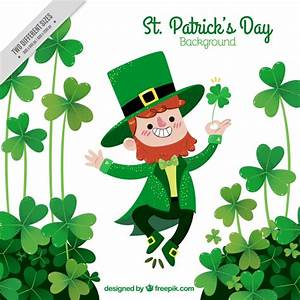 Happy st. patrick's day elf background Vector   Free Download