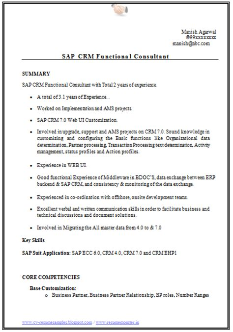 cv  resume samples    sap