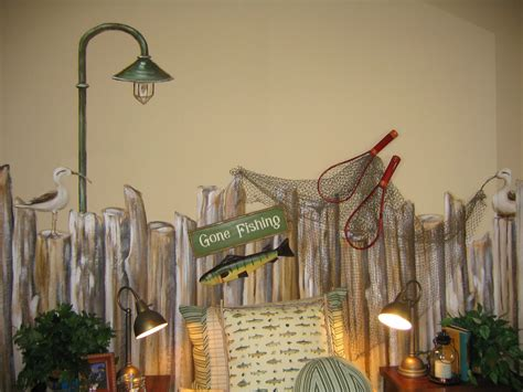 fishing themed room copyright   art couture