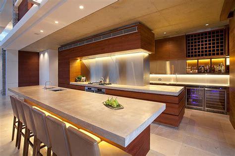 belles cuisines contemporaines maison moderne australienne pour une famille moderne