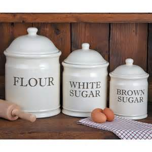 stoneware kitchen canisters baker 39 s stoneware canister set
