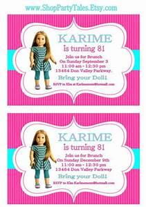 Wedding Invitation Printable Templates American Girl Invitation Templates