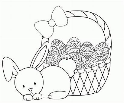 Easter Coloring Pages Basket Printable