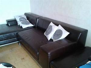 ikea salon cuir landskrona canap places mridienne With tapis persan avec canapé convertible habitat occasion