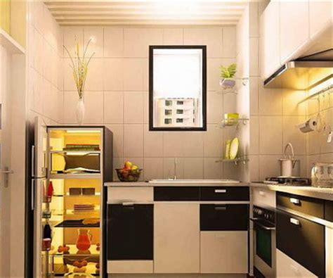 small sized interior design kitchen model  model