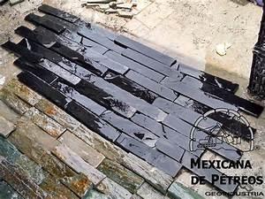 Slate Nacional Negro Imperial Para Acabados, Muros, Fachadas $ 290 00 en Mercado Libre