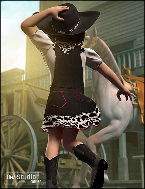 cowpokes for 4 uniforms costumes for daz studio and poser