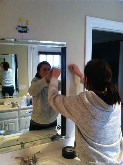 How Do You Remove A Bathroom Mirror by Grace Goes To Grad School How To Remove Mirrored Trim