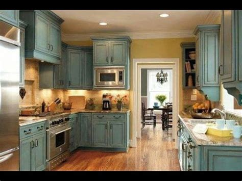 chalk paint kitchen cabinets duck egg youtube