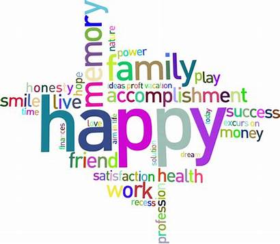 Word Happy Background Cloud Clipart Text Prismatic