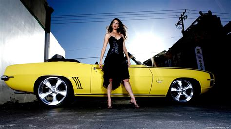 Cars And Girls Wallpaper