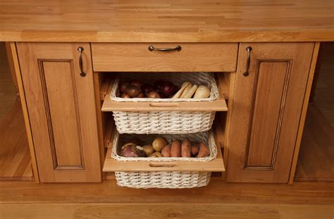Wicker Baskets & Storage Baskets  Solid Wood Kitchen Cabinets