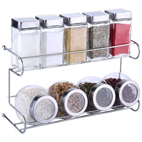 Spice Sets With Racks by Kitchen Spice Bottle Set Seasoning Jar Shelf Spice Rack