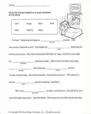 getalong     grade english worksheet