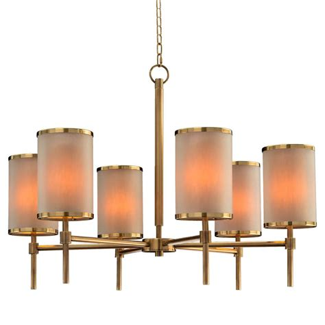 tall drum l shade dooley modern classic brass tall drum shade chandelier