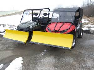 Side by Side UTV with Plow