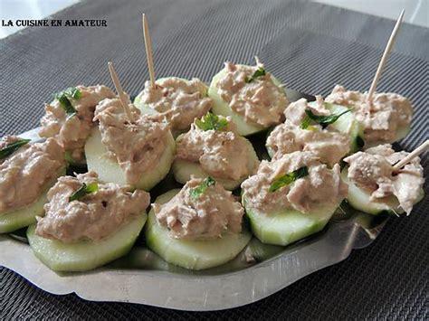 canap au thon recette de canapés de concombre