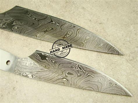 Lot Of 2 Pcs Professional Chef Knife Blank Blade Custom