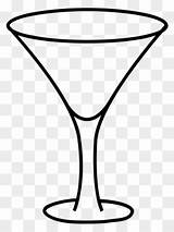 Coloring Cocktail Pineapple Drink Martini Clipart Champagne Template sketch template